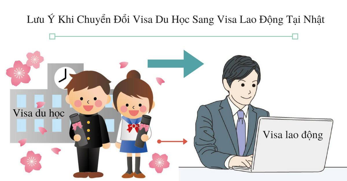Lưu Ý Khi Chuyển Đổi Visa Du Học Sang Visa Lao Động Tại Nhật