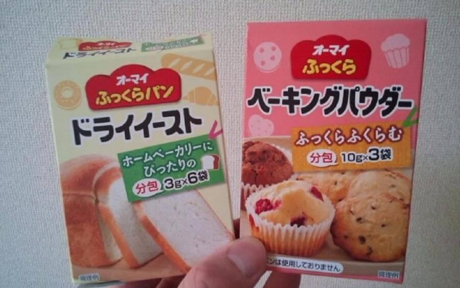 Bột nở và men nở ở Nhật