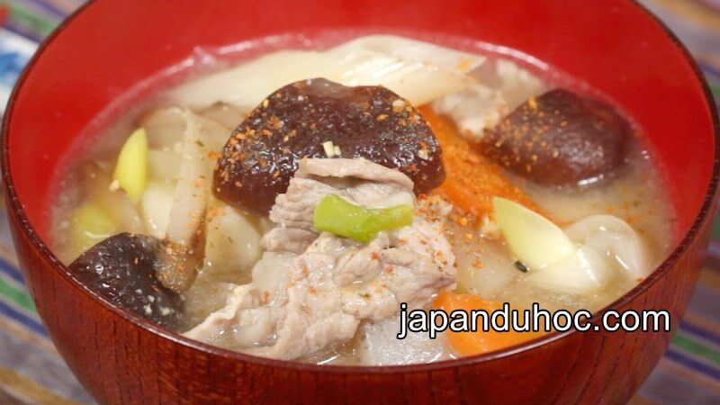 Soup miso thịt heo